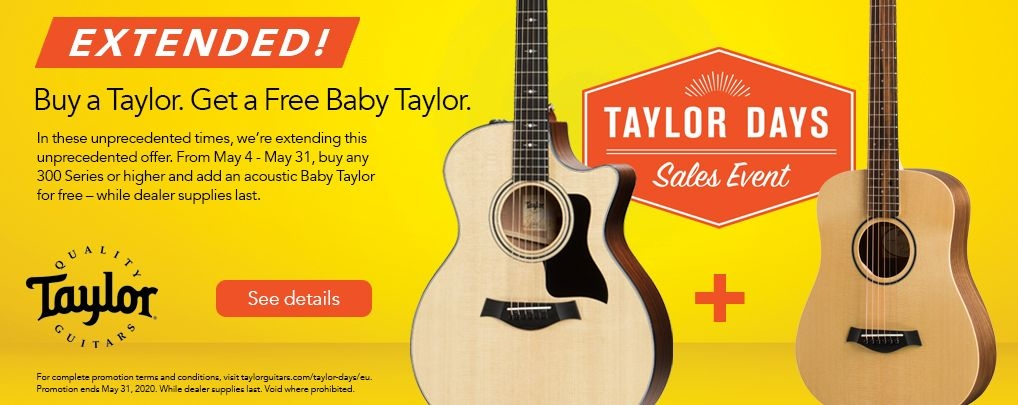 Free Taylor BT1 Baby Promotion