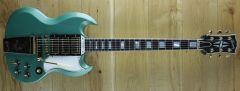 Gibson Custom M2M 63 Les Paul SG Custom Maestro, Inverness Green VOS 001301