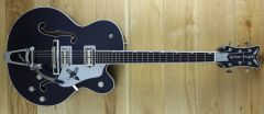 Gretsch G6136T-RR Rich Robinson Signature Magpie with Bigsby, Ebony Fingerboard, Raven's Breast Blue