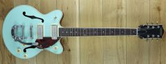 Gretsch G2655T-P90 Streamline Center Block Jr. Double-Cut P90 with Bigsby Two-Tone Mint Metallic / Vintage Mahogany