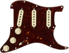 Fender Pre-Wired Strat Pickguard, Tex-Mex SSS, Tortoise Shell 11 Hole PG