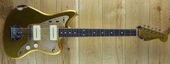 Fender Custom Shop Carlos Lopez Masterbuilt 59 Jazzmaster Relic Frost Gold R108407