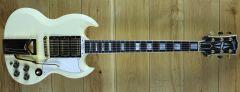 Gibson 60th Anniversary 1961 SG Les Paul Custom VOS Polaris White 101391