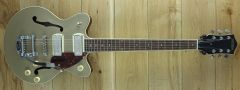 Gretsch G2655T-P90 Streamliner Center Block Jr P90 with Bigsby, Two-Tone Sahara Metallic/Vintage Mahogany Stain