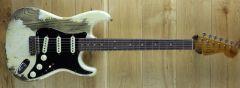 Fender Custom Shop Summer Dealer Event Poblano Strat Super Heavy Relic Aged Olympic White  CZ551238