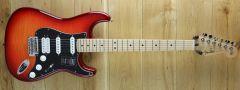 Fender Player Strat HSS Plus Top, Maple Fingerboard, Aged Cherry Burst