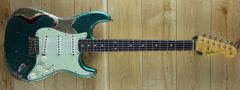 Fender Custom Shop Ron Thorn Masterbuilt 60 Strat Heavy Relic British Racing Green over Candy Apple Red