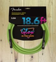 Fender Professional Series Glow In The Dark 18.6ft Cable Green