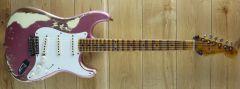 Fender Custom Shop 50s Strat Super Heavy Relic Burgundy Mist over Vintage White R110469
