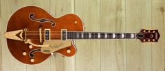 Gretsch G6120TG-DS Players Edition Nashville® Hollow Body DS with String-Thru Bigsby® and Gold Hardware, Ebony Fingerboard, Roundup Orange ~ Due November
