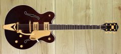 Gretsch G6122TG Players Edition Country Gentleman® Hollow Body with String-Thru Bigsby® and Gold Hardware, Ebony Fingerboard, Walnut Stain ~ Due November