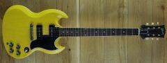 Gibson Custom M2M 1963 SG Special Reissue Lightning Bar VOS TV Yellow 100063