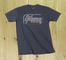Gibson Custom Logo T Shirt Heathered Grey Medium