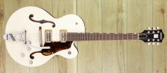 Gretsch G6118T Players Edition Anniversary™ Hollow Body with String-Thru Bigsby®, Rosewood Fingerboard, Two-Tone Vintage White/Walnut Stain ~ Due November