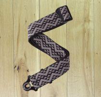 D'Addario Auto Lock Guitar Strap Black Padded Geometric