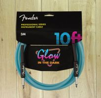 Fender Professional Series Glow In The Dark 10ft Cable Blue
