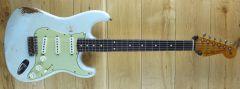 Fender Custom Shop Carlos Lopez Masterbuilt 61 Strat Relic Faded Surf Green R111071