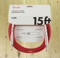 Fender Original Series 15ft Cable Fiesta Red