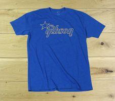 Gibson Star Logo T Shirt Blue Medium