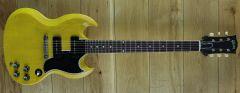 Gibson Custom M2M 1963 SG Special Reissue Lightning Bar VOS TV Yellow 100053