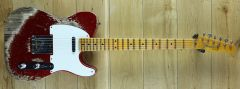 Fender Custom Shop 54 Tele Super Heavy Relic Super Faded Candy Apple Red R110679