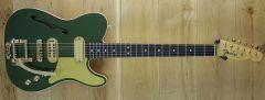 Fender Custom Shop Ron Thorn Masterbuilt 2 Tone Thinline Tele Lush Closet Classic Cadillac Green/Frost Gold R105150