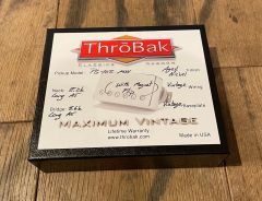 ThroBak PG102 Peter Green Style PAF Humbucker Guitar Pickup Set, Aged Nickel, with magnet flip
