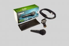 Shure PGA58 with XLR cable
