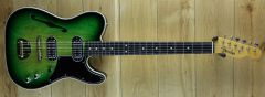 Fender Custom Shop Ron Thorn Masterbuilt Thinline Tele Greenburst ,Vibra-Dyne Vibrato R109988