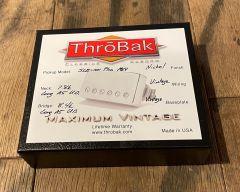 ThroBak SLE101 Plus MXV P.A.F. Humbucker Pickup Set, Shiny Nickel